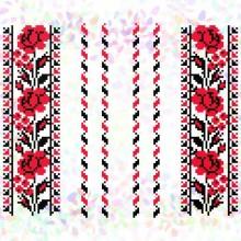 К-242 Квіткова алея. Фрагменти для вишивки на водорозчинному флізелін.