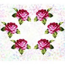 """К - 303 """"Букет троянд"""" Водорозчинний флізелін для вишивки"""