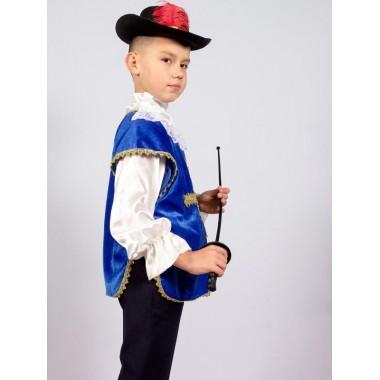Карнавальний костюм Мушкетер (синій)