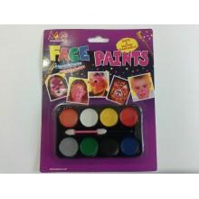 Грим карнавальний палітра матова 8 кольорів