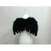 Крила ангела чорні пір'яні маленькі 35 * 25