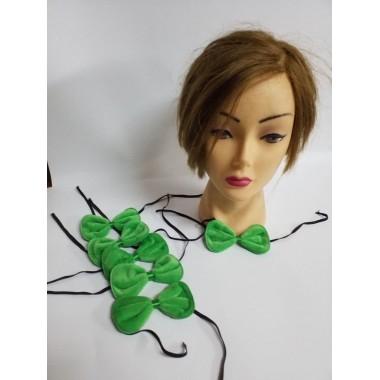 Краватка-метелик зелена (мікро-хутро)