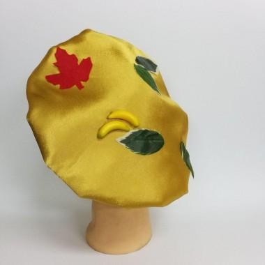 Головний убір грибочки (золотий атлас)