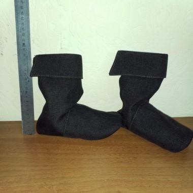 Карнавальні тканинні чобітки (коричневі)