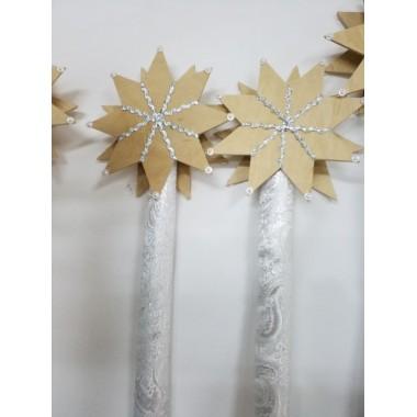 Посох Різдвяна зірка (дерево)
