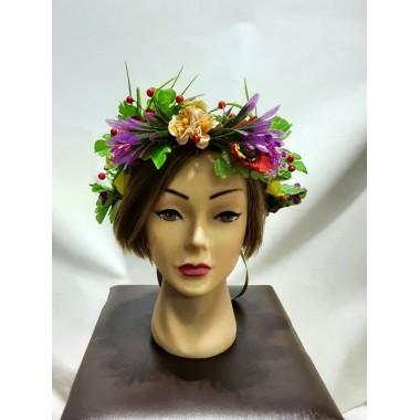 Вінок на голову з квітів дитячий