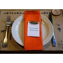 Серветка для ресторану червона 35*35