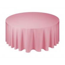 Кругла скатертина для банкетного столу однотонна