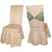 Чохли на стільці з тканини Журавинка