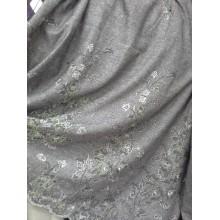 Тканина костюмна твід з вишивкою купон