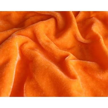 Велюр помаранчевий (тонкий)