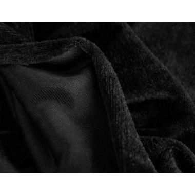 Велюр чорний  (тонкий)