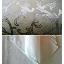 """Столова  тканина """"Версаль"""" білий і шоколадний"""