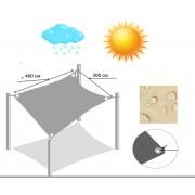Тент-парус тіньовий прямокутний 4 м * 3 м