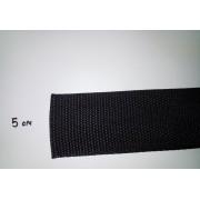 Стрічка ремінна (стропа), чорна, 5 см