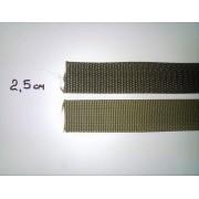 Стрічка ремінна (стропа), хакі, 2,5 см
