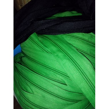 Блискавка спіральна рулонна, тип 5, яскраво-зелена