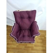 М'яка частина для вуличних меблів-крісло бордове