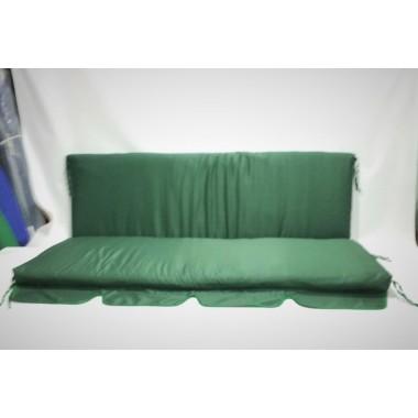 200*55*60 М'які матраци для садової гойдалки, колір темний зелений