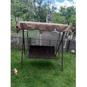 170*110/120*49*51- Комплект чохлів на садові гойдалки коричневий