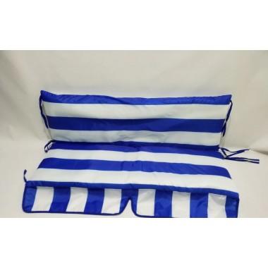 130*48*48-М'які водонепроникні чохли на садові гойдалки  (білий / синій)