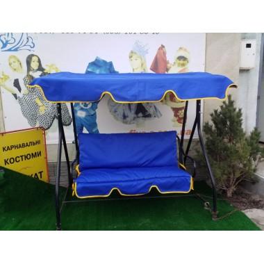 140*50*55 М'який матрац на садові гойдалки-яскравий синій