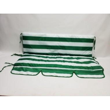 130*48*48-М'які водонепроникні чохли на садові гойдалки  (білий / зелений)
