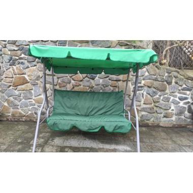 142*54*55 М'який матрац на садові гойдалки-зелений