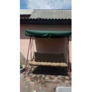 Тент на дах садової гойдалки 170 * 110 (колір: зелений темний)