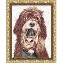 VKA3055 Собака з кошеням