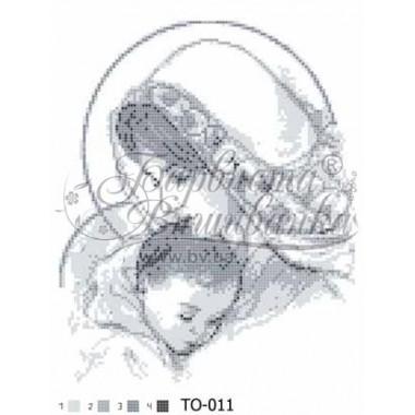 TO011ан2535 Марія з дитям (сіра)
