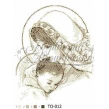 TO012 ан2535 Марія з дитиною бежева 25 см x 35 см