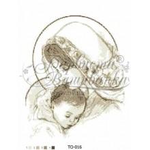 TO016 ан3545 Марія з дитиною бежева 35 см x 45 см
