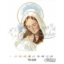 TO029 ан2027 Мадонна з дитиною 20 см x 27 см