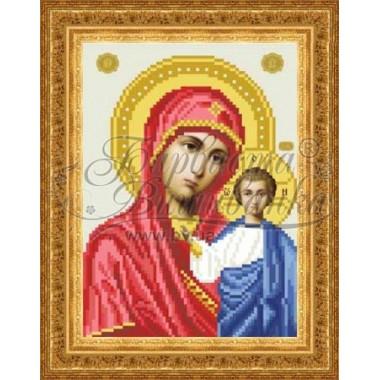 TO043 ан1622 Казанська Ікона Божої Матері 16 см x 22 см