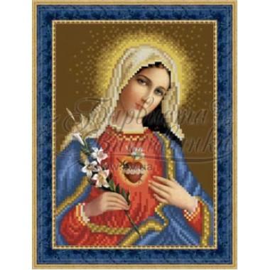 O080 ан 1622 Ікона Відкрите Серце Марії 16 см x 22 см
