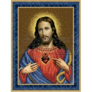 TO081 ан1622 Ікона Відкрите Серце Ісуса 16 см x 22 см