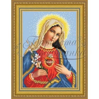 TO089 ан1622 Ікона Відкрите Серце Марії 16 см x 22 см