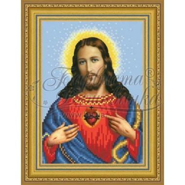 TO090 ан1622 Ікона Відкрите Серце Ісуса 16 см x 22 см