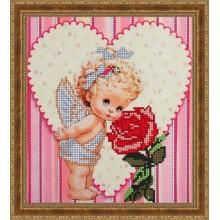 """Арт. Б-4047 - """"Ангелок з трояндою"""""""