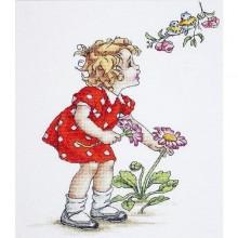 """Набір для вишивання """"Дівчинка в червоному платті"""" B1050"""