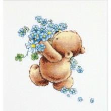 """Набір для вишивання """"Ведмедик з незабудками"""" B1052"""