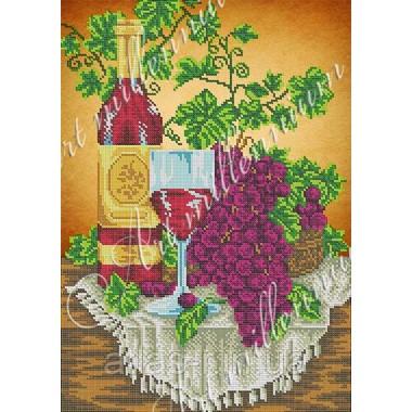 """Картина з бісером W-396 """"Вино і виноград"""""""