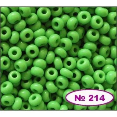 Бісер №53210, зелений світлий, 1г