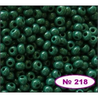 Бісер №53270, зелений темний, 1г