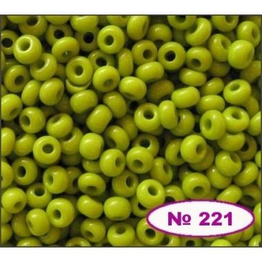 Бісер №53430, оливково-зелений, 1г