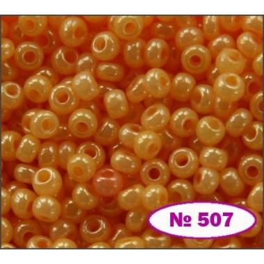 Бісер №17383, жовтий апельсин/ 1 г