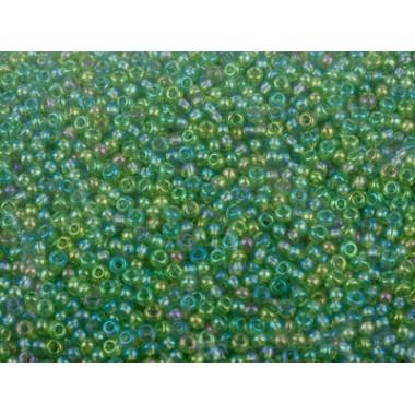 Бісер №51220, зелений хамелеон, 1г