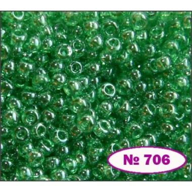 Бісер №56100, зелений світлий, 1г