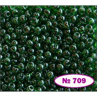Бісер №56120, зелений темний, 1г